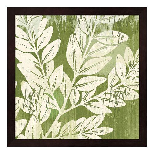 Metaverse Art Sage Foliage Framed Wall Art