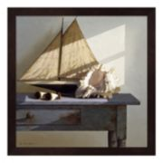 Metaverse Art Shell and Sail Framed Wall Art