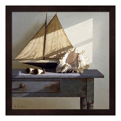 Metaverse Art Shell and Sail Framed Wall Art