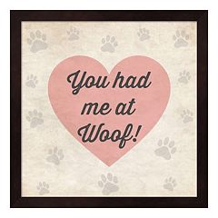 Metaverse Art ''You Had Me At Woof'' Framed Wall Art