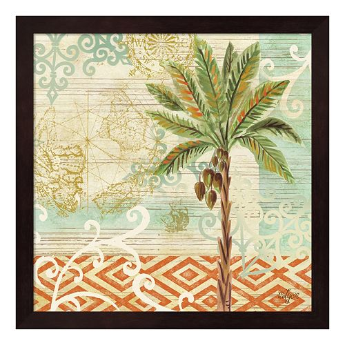 Metaverse Art Spice Palms II Framed Wall Art