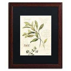 Trademark Fine Art Aromantique IV Wood Finish Framed Wall Art