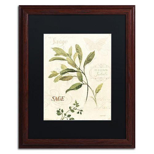 Trademark Fine Art Aromantique IV Wood Finish Framed Wall Art