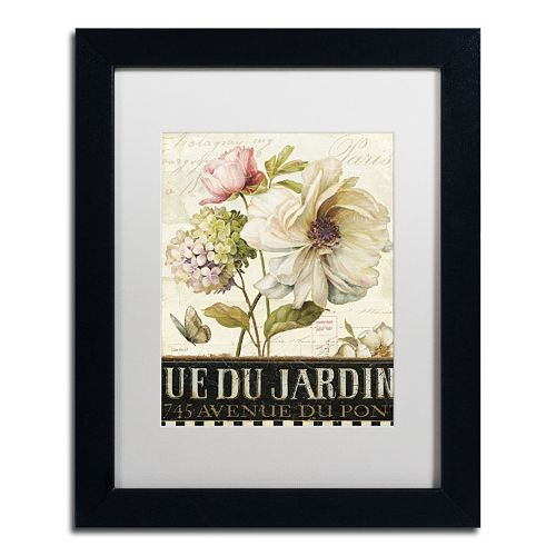 Trademark Fine Art Marche de Fleurs II Black Framed Wall Art