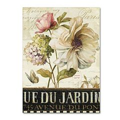 Trademark Fine Art Marche de Fleurs II Canvas Wall Art
