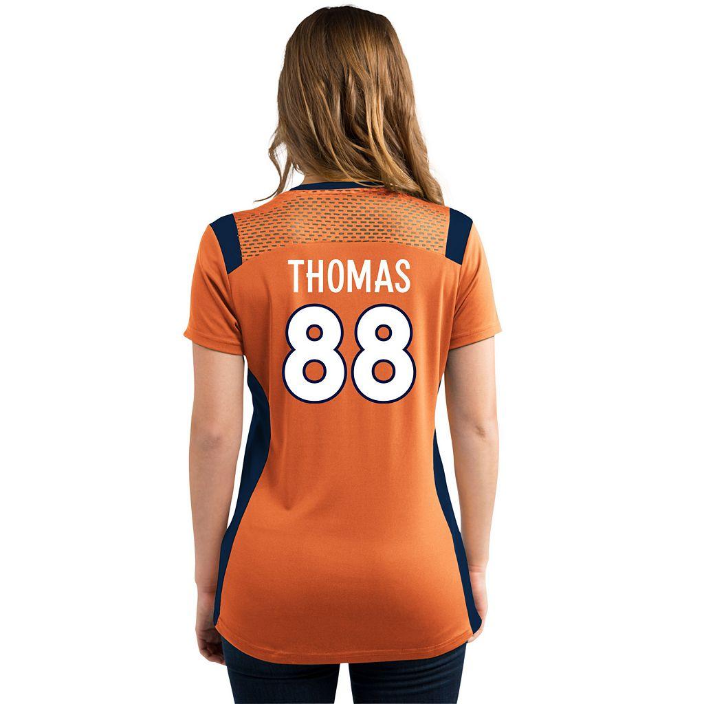 Women's Majestic Denver Broncos Demaryius Thomas Draft Him Fashion Top