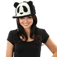 Adult Panda Fuzzy Snapback Custome Hat