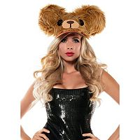 Adult Brown Bear Fuzzy Costume Hat