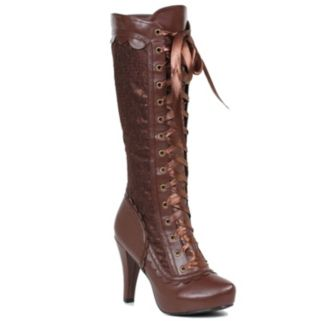 Adult Steampunk Lace-Up Costume Boots