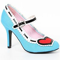 Adult Blue Heart Costume Heels