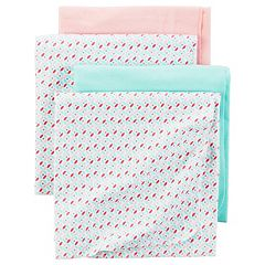 Baby Girl Carter's 4 pkReceiving Blankets