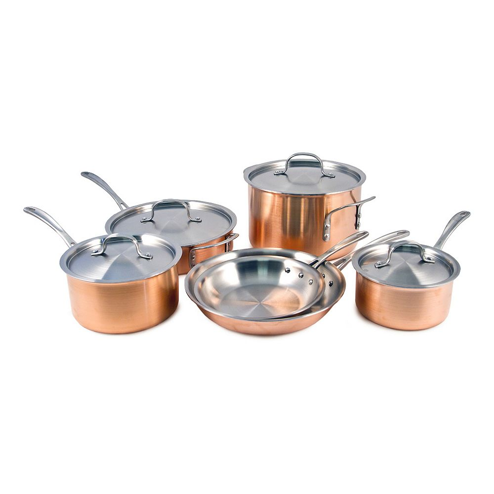 Calphalon Copper Tri-Ply 10-pc. Cookware Set