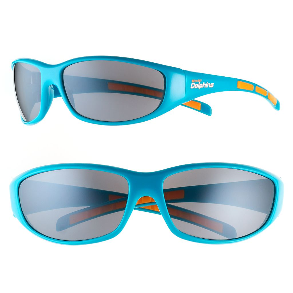 Adult Miami Dolphins Wrap Sunglasses