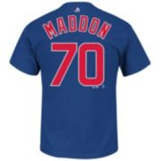 Men's Majestic Chicago Cubs Joe Maddon Player Name and Number Tee