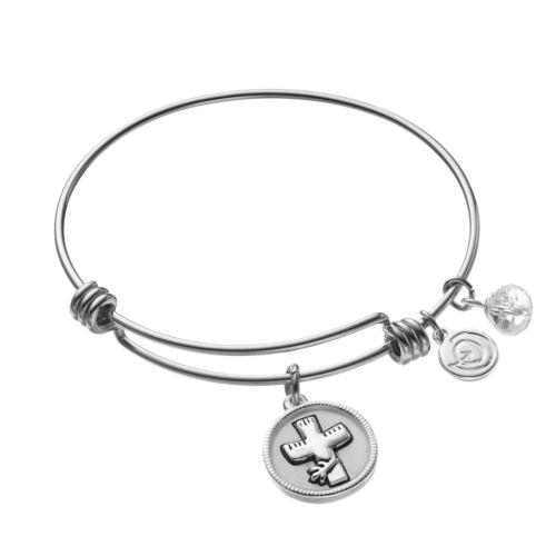 love this lifeCrystal Cross Charm Bangle Bracelet