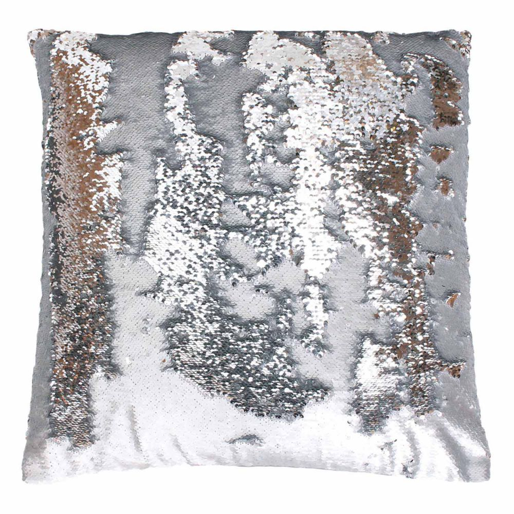 by Marlo Lorenz Melody Mermaid Sequin Throw Pillow