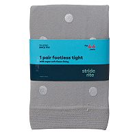 Girls 4-10 Stride Rite Metallic Dot Footless Fleece-Lined Tights