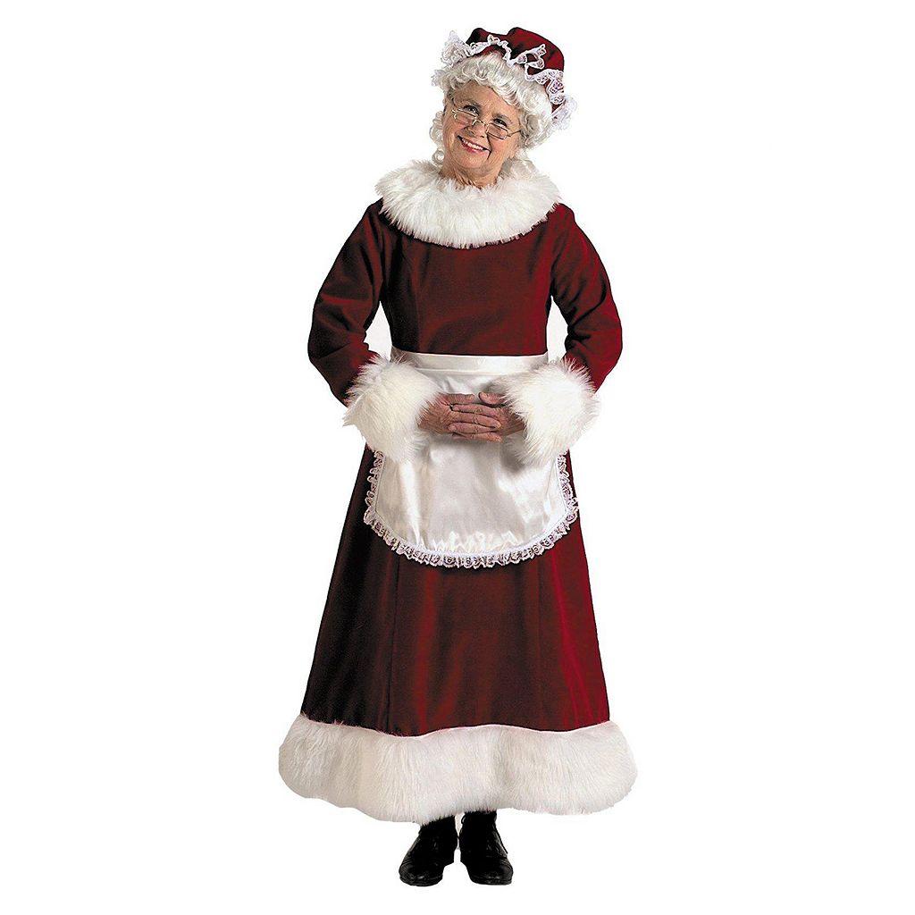 Adult Plus Mrs. Claus Deluxe Costume
