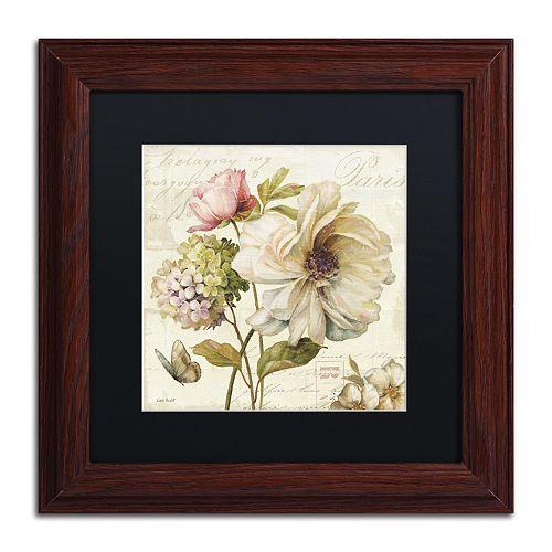 Trademark Fine Art Marche de Fleurs II Black Matted Framed Wall Art