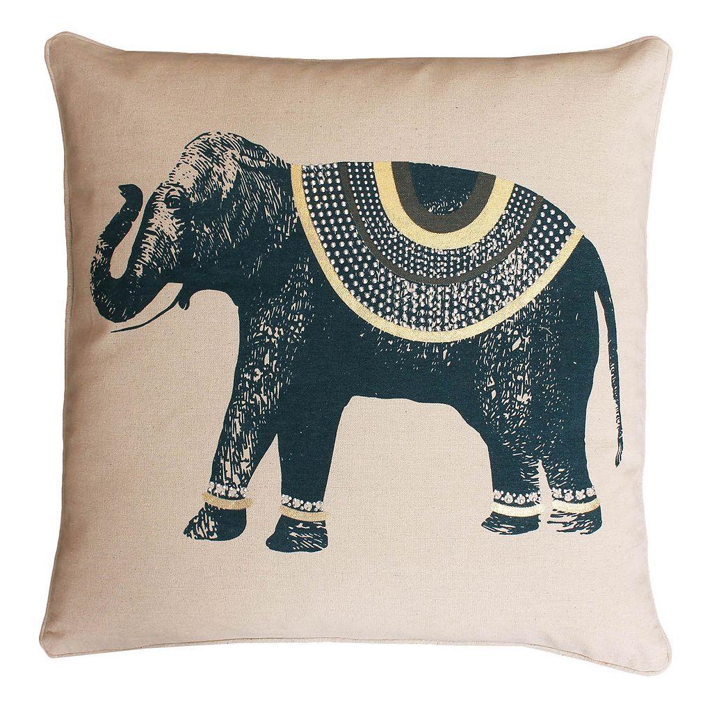 Thro by Marlo Lorenz Ezra Elephant Throw Pillow