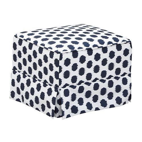 Storkcraft Upholstered Polka-Dot Ottoman
