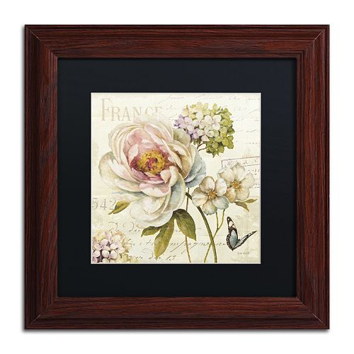 Trademark Fine Art Marche de Fleurs III Black Matted Framed Wall Art