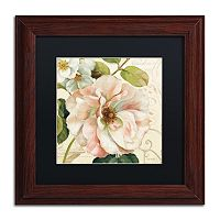 Trademark Fine Art Les Jardin II Black Matted Framed Wall Art