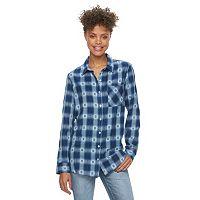 Juniors' Mudd® Flannel Button-Down Shirt