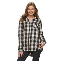 Juniors' Mudd® Flannel Button-Down Shirt