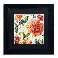 Trademark Fine Art Rainbow Garden II Black Framed Wall Art