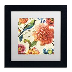 Trademark Fine Art Rainbow Garden II Black Framed Wall Art