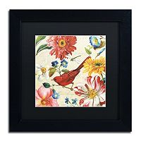 Trademark Fine Art Rainbow Garden III Black Framed Wall Art