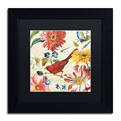 Trademark Fine Art Rainbow Garden III Black Framed Wall Art