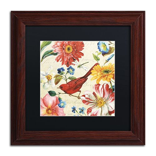 Trademark Fine Art Rainbow Garden III Natural Framed Wall Art