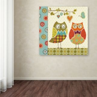 Trademark Fine Art Owl Wonderful I Canvas Wall Art