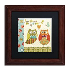 Trademark Fine Art Owl Wonderful I Wood Finish Framed Wall Art