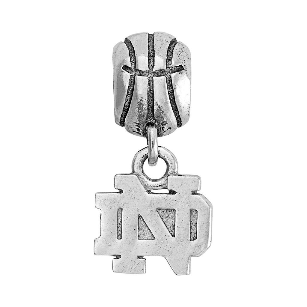 Dayna U Sterling Silver Notre Dame Fighting Irish Team Logo Basketball Charm