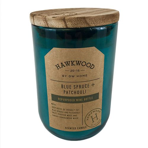 Hawkwood 13.9-oz. Blue Spruce & Patchouli Wine Candle Jar