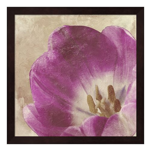 Metaverse Art Buttercream Tulip I Framed Wall Art