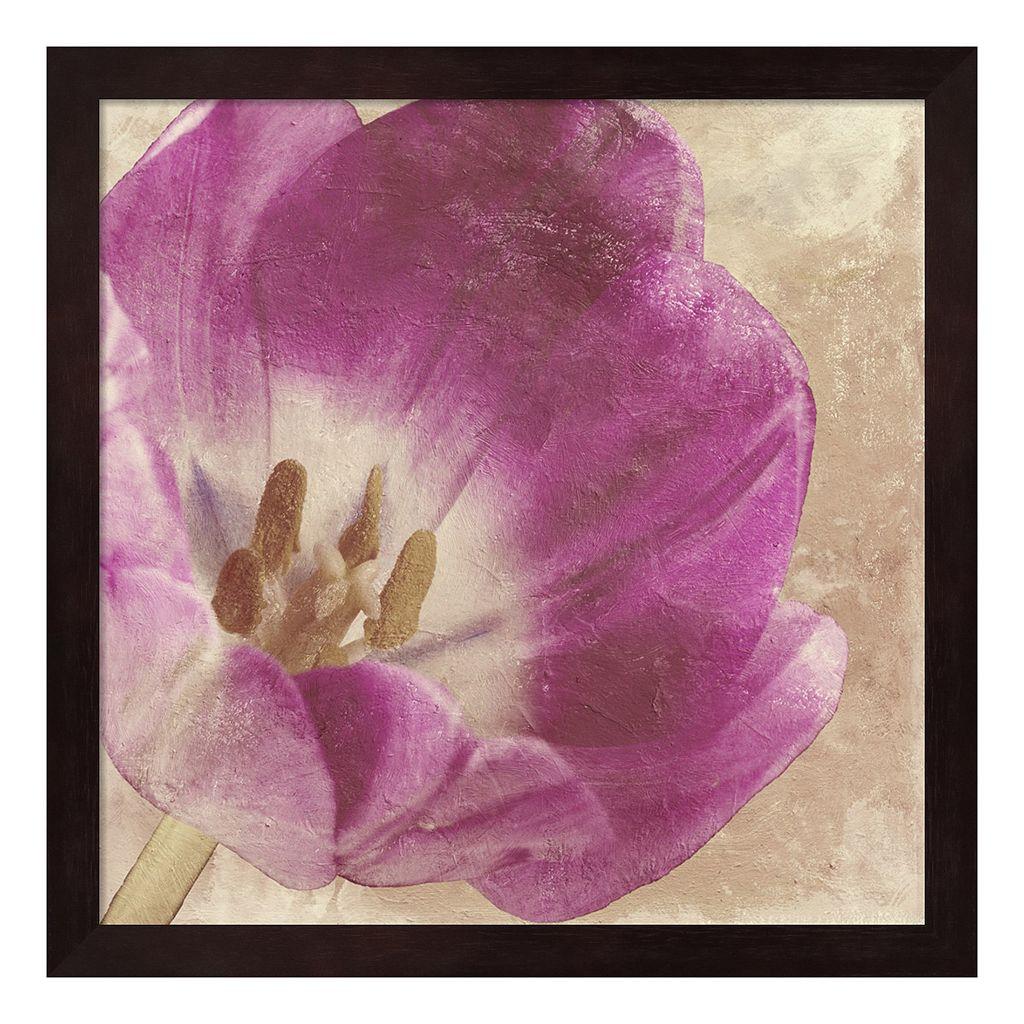 Metaverse Art Buttercream Tulip II Framed Wall Art