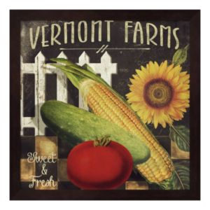 Metaverse Art Vermont Farms VII Framed Wall Art