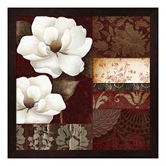 Metaverse Art Flores Blancas III Framed Wall Art