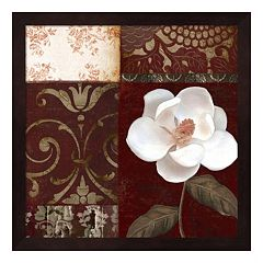 Metaverse Art Flores Blancas IV Framed Wall Art