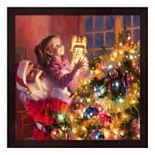 Metaverse Art Santa Little Angel Bright Framed Wall Art