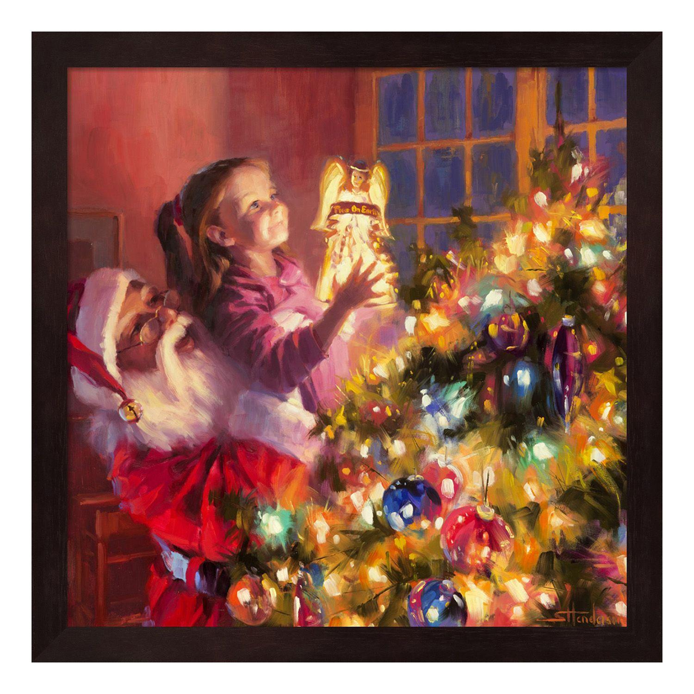 Christmas Decor. BUY_1_GET_1_50_PERCENTAGE. Metaverse Art Santa Little  Angel Bright Framed Wall Art