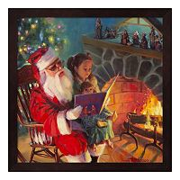 Metaverse Art Santa Christmas Story Framed Wall Art