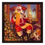 Metaverse Art Santa Christmas List Framed Wall Art