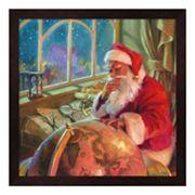 Metaverse Art Santa World Traveler Framed Wall Art