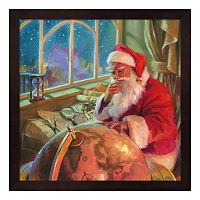 Metaverse Art Santa World Traveler Framed Wall Art
