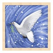 Metaverse Art Dove In The Winter Wind Framed Wall Art